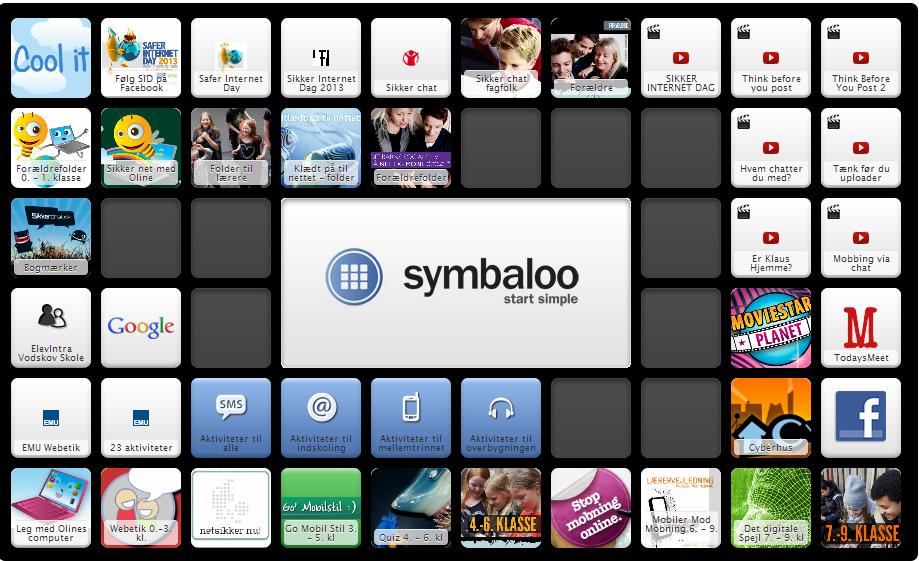 web- og mobiletik symbaloo
