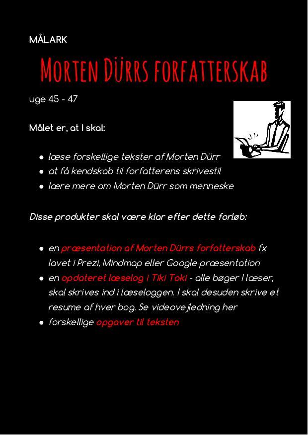 Målark - forløb med Morten Dürr