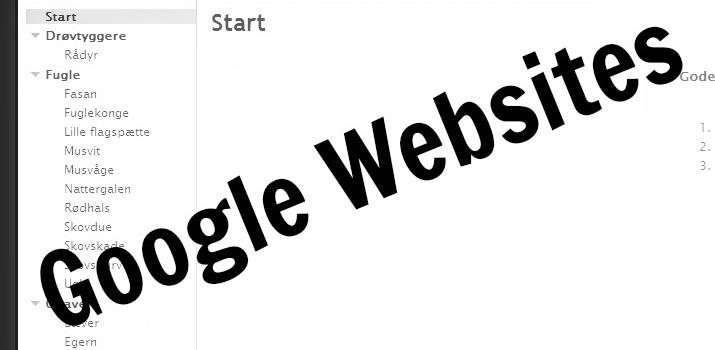 Google Websites i undervisningen