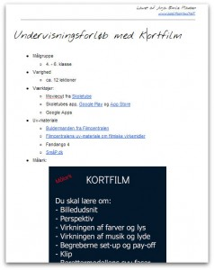 undervisningsforløb med kortfilm www.coolitconsult.dk